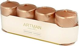 Parfüm, Parfüméria, kozmetikum Dekoratív gyertya készlet, metál rózsaszín arany - Artman Candles (candle/4pcs)
