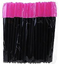 Parfüm, Parfüméria, kozmetikum Szilikon szempilla kefe, fekete-rózsaszín - Novalia Group