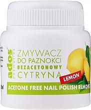 """Parfüm, Parfüméria, kozmetikum Körömlakk lemosó acetonmentes, szivaccsal """"Citrom"""" - Ados Acetone Free Nail Polish Remover"""