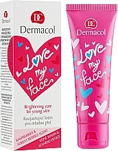 Parfüm, Parfüméria, kozmetikum Regeneráló krém sörbet arcra - Dermacol Love My Face Rasberries & Forst Berries Scent Face Cream