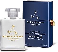 Parfüm, Parfüméria, kozmetikum Olaj fürdéshez levendulával és mentával - Aromatherapy Associates Support Lavender & Peppermint Bath & Shower Oil