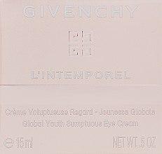 Parfüm, Parfüméria, kozmetikum Szemkörnyékápoló krém - Givenchy L`Intemporel Global Youth Sumptuous Eye Cream