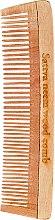 Parfüm, Parfüméria, kozmetikum Fa hajfésű, 19 cm - Sattva Neem Wood Comb