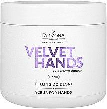 Parfüm, Parfüméria, kozmetikum Kézradír liliom és orgona illattal - Farmona Professional Velevet Hands Scrub For Hands