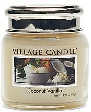 """Parfüm, Parfüméria, kozmetikum Illatgyertya pohárban """"Kókusz és vanília"""" - Village Candle Coconut Vanilla"""