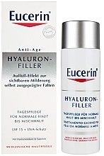Parfüm, Parfüméria, kozmetikum Nappali ránctalanító krém normál és kombinált bőrre - Eucerin Hyaluron-Filler Day Cream For Combination To Oily Skin