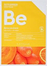 """Parfüm, Parfüméria, kozmetikum Szövetmaszk """"Tápláló"""" - Missha Phytochemical Skin Supplement Sheet Mask Betacarotene/Nourishing"""