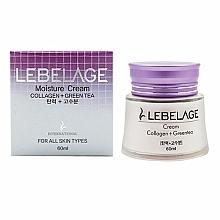 Parfüm, Parfüméria, kozmetikum Hidratáló és tápláló krém kollagénnel és zöld teával - Lebelage Collagen+Green Tea Moisture Cream