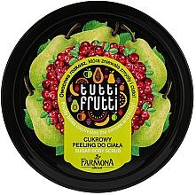 "Parfüm, Parfüméria, kozmetikum Cukor peeling ""Körte és vörösáfonya"" - Farmona Tutti Frutti Sugar Scrub"