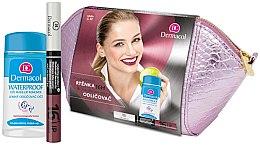 Parfüm, Parfüméria, kozmetikum Készlet - Dermacol (lip/colour/4,8 g + remover/120ml + bag)