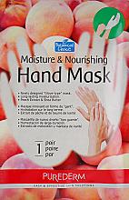 Parfüm, Parfüméria, kozmetikum Hidratáló és tápláló barack alapú kesztyű - maszk - Purederm Moisture & Nourishing Hand Mask