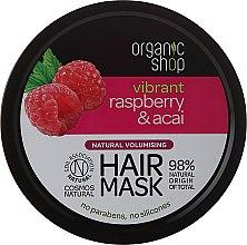 Parfüm, Parfüméria, kozmetikum Hajmaszk - Organic Shop Raspberry & Acai Hair Mask