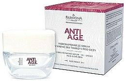Parfüm, Parfüméria, kozmetikum Krém és szérum arcra és szemre - Farmona Anti-AGE Glycation Fibro-Rebuilding Serum In Cream For Face & Under Eye