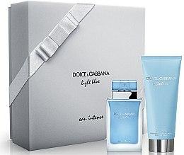Parfüm, Parfüméria, kozmetikum Dolce & Gabbana Light Blue Eau Intense - Szett (edp/50ml + b/cr/100ml)