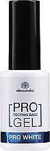 Parfüm, Parfüméria, kozmetikum Erősítő bázis körömre - Alessandro International Protectig Base Gel Pro White
