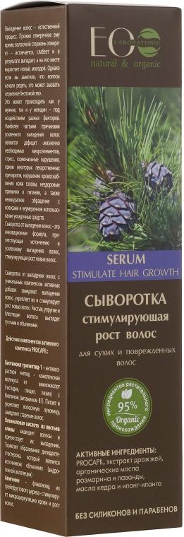 Hajnövekedést serkentő szérum száraz és sérült hajra - ECO Laboratorie Serum Stimulate Hair Growth Dry & Damaged Hair