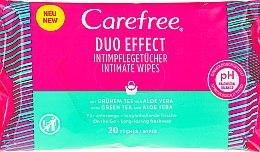 """Parfüm, Parfüméria, kozmetikum Intim törlőkendő """"Aloe"""", 20 db - Carefree Duo Effect"""