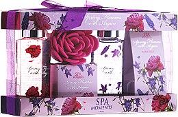 """Parfüm, Parfüméria, kozmetikum Szett """"Tavaszi virág és argán"""" - Spa Moments Spring Flowers With Argan (sh/gel/100ml + salt/50g + sh/gel/100ml + salt/50g)"""