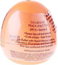 Parfüm, Parfüméria, kozmetikum Balzsam-olaj ajakra, őszibarack - Golden Rose Lip Butter SPF15 Peach