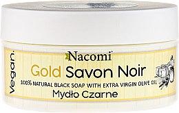 "Parfüm, Parfüméria, kozmetikum Fekete szappan ""Olíva olaj"" - Nacomi Savon Noir Natural Black Soap with Extra Virgin Olive Oil"