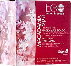 """Parfüm, Parfüméria, kozmetikum Tápláló hajmaszk """"Dúsító és regeneráló"""" - ECO Laboratorie Macadamia SPA Hair Mask"""