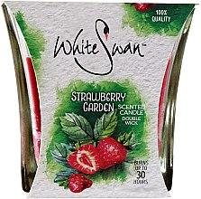 """Parfüm, Parfüméria, kozmetikum Illatosított gyertya """"Eper kert"""" - White Swan Strawberry Garden"""