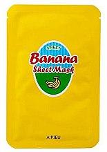 Parfüm, Parfüméria, kozmetikum Tápláló maszk banán és méz kivonattal - A'Pieu Sweet Banana Sheet Mask
