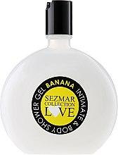 "Parfüm, Parfüméria, kozmetikum Higiéniai intim gél ""Banán"" - Sezmar Collection Love Banana Intimate & Body Shower Gel"
