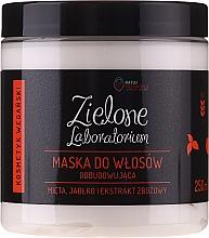 Parfüm, Parfüméria, kozmetikum Revitalizáló hajmaszk menta, alma és gabona kivonatokkal - Zielone Laboratorium