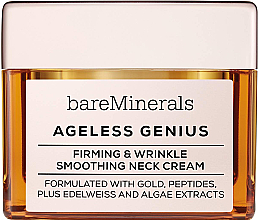 Parfüm, Parfüméria, kozmetikum Feszesítő és simító nyakkrém - Bare Escentuals Bare Minerals Moisturizer Ageless Genius Firming & Wrinkle Smoothing Neck Cream