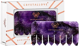Parfüm, Parfüméria, kozmetikum Ametiszt fejbőr masszírozó fésű - Crystallove