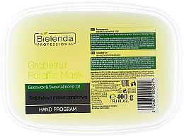 """Parfüm, Parfüméria, kozmetikum Paraffin maszk """"Grapefruit"""" - Bielenda Professional Grapefruit Paraffin Mask Beeswax & Almond Oil"""