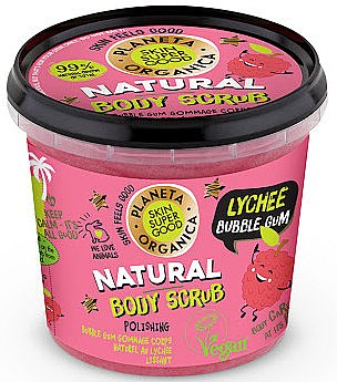 Testradír - Planeta Organica Natural Body Scrub Lychee & Bubble Gum