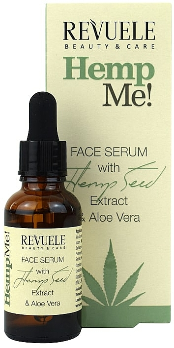 Arcszérum keder olajjal - Revuele Hemp Me! Face Serum With Hemp Seed