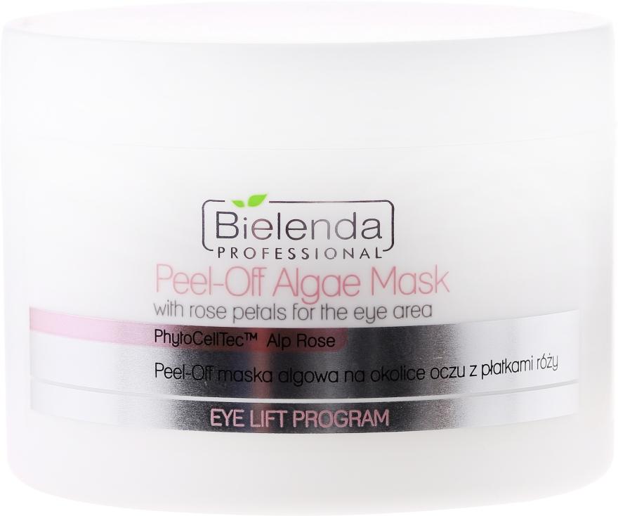 Alginát arcmaszk rózsaszirommal a szemkörnyékre - Bielenda Professional Eye Lift Program Peel-Off Algae Mask