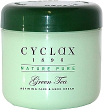 "Parfüm, Parfüméria, kozmetikum Krém arcra és nyakra ""Zöld tea"" - Cyclax Nature Pure Green Tea Face & Neck Cream"