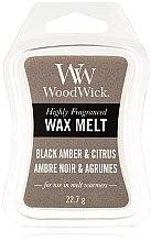 Parfüm, Parfüméria, kozmetikum Illatosított viasz - WoodWick Wax Melt Black Amber & Citrus