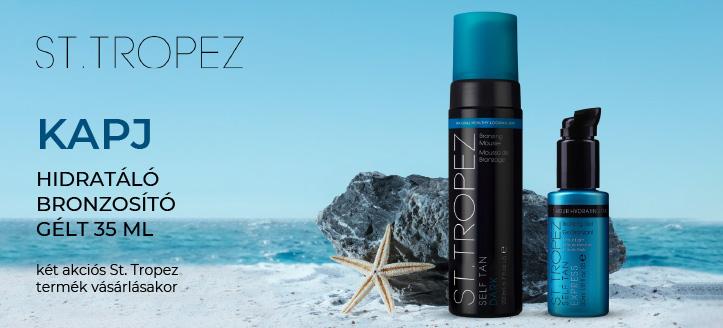 Két akciós St. Tropez termék vásárlásakor kapj ajándékba hidratáló bronzosító gélt testre 35 ml