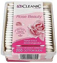 Parfüm, Parfüméria, kozmetikum Fültisztító pálcika japán rózsa olajjal - Cleanic Rose Beauty Cotton Buds