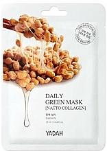 "Parfüm, Parfüméria, kozmetikum Arcmaszk ""Kollagén Natto"" - Yadah Daily Green Mask Natto Collagen"