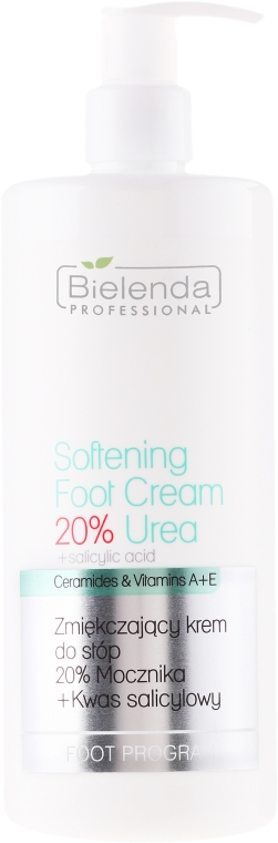 Lábápoló krém - Bielenda Professional Podo Expert Program Softening Foot Cream 20% Urea