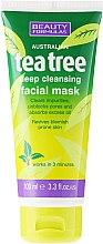 """Parfüm, Parfüméria, kozmetikum Mélytisztító arcmaszk """"Teafa"""" - Beauty Formulas Tea Tree Deep Cleansing Facial Mask"""