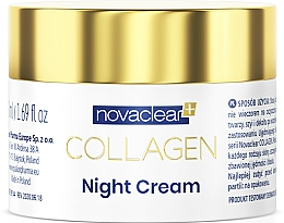 Parfüm, Parfüméria, kozmetikum Éjszakai kollagén krém - Novaclear Collagen Night Cream