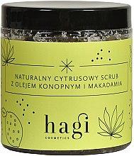 Parfüm, Parfüméria, kozmetikum Természetes citrusos peeling kenderrel és makadámia olajjal - Hagi Scrub