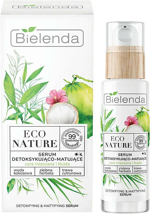 Arcszérum - Bielenda Eco Nature Coconut Water Green Tea & Lemongrass Detox & Mattifyng Serum