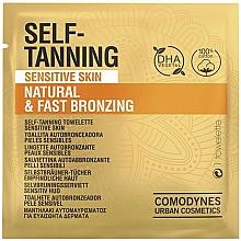 Parfüm, Parfüméria, kozmetikum Önbarnító törlőkendő érzékeny bőrre - Comodynes Self-Tanning Sensitive Skin