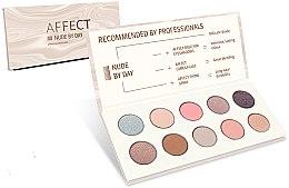 Parfüm, Parfüméria, kozmetikum Préselt szemhéjfesték paletta - Affect Cosmetics Nude By Day Eyeshadow Palette