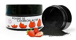"Parfüm, Parfüméria, kozmetikum Fehérítő por ""Strawberry"" - Keeth Strawberry-flavoured Activated Charcoal Bleaching Powder"