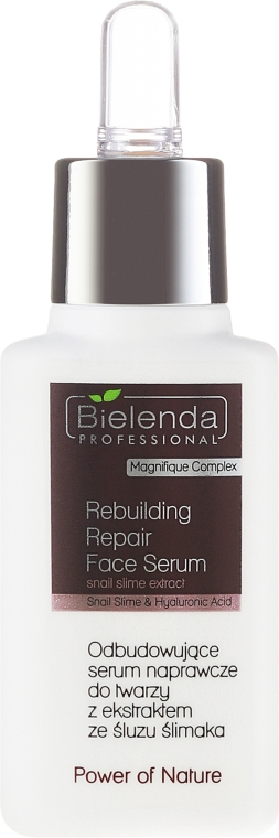 Regeneráló szérum csiganyál kivonattal - Bielenda Professional Power Of Nature Rebuilding Repair Face Serum