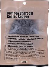 Parfüm, Parfüméria, kozmetikum Konjak szivacs faszénnel - Purito Bamboo Charcoal Konjac Sponge